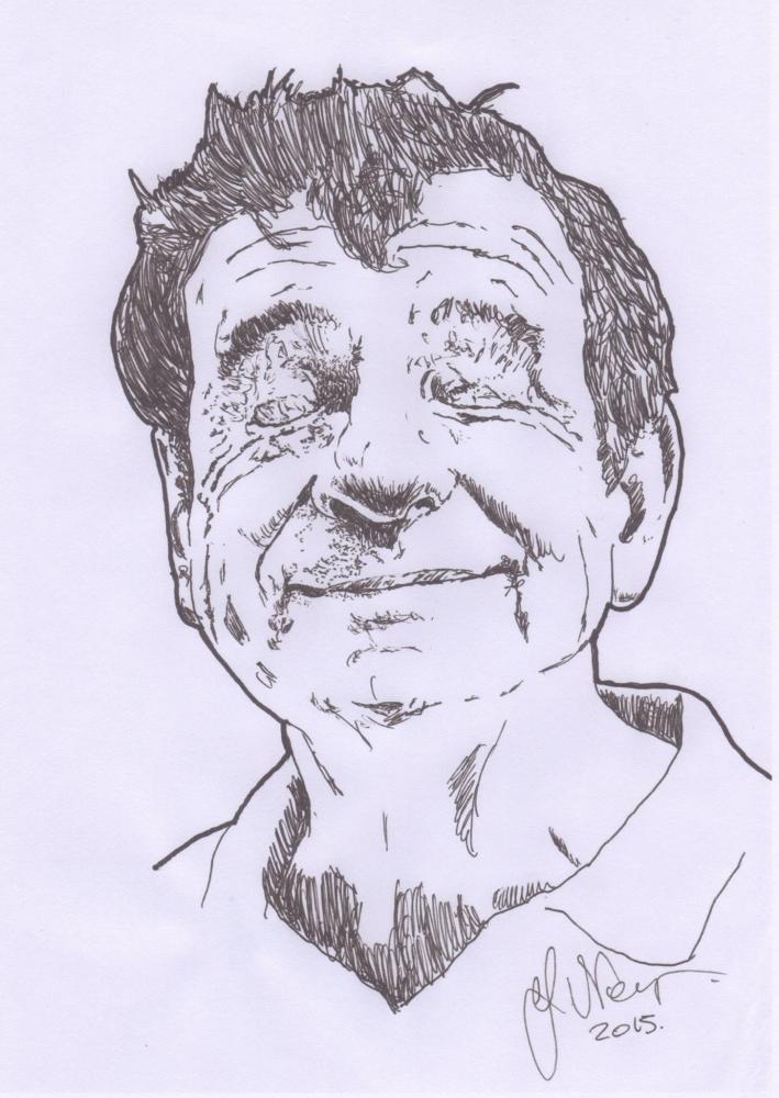 Walter Matthau by weaverjohn